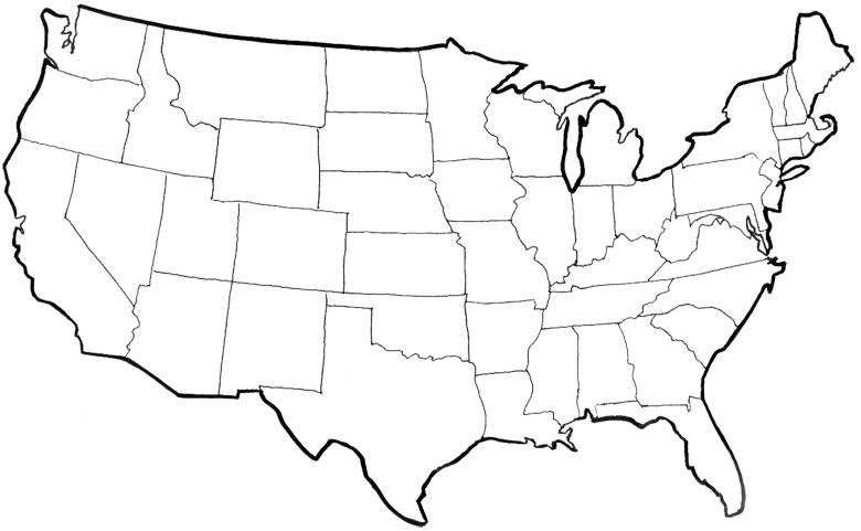 Congregations Of The Church Of Christ - Usa map transparent